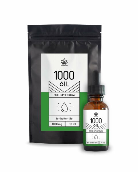 OIL natural CBD 1000mg – 10ml (Doypack)