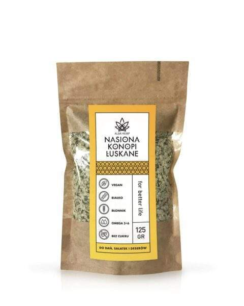 Shelled hemp seeds 125 g