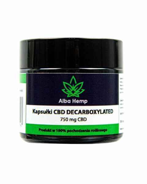 Kapsułka CBD 750 mg decarboksylowane
