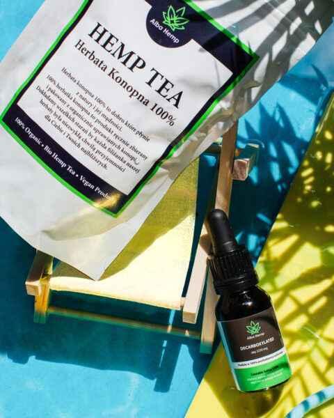 Zestaw herbata konopna 100% 50g + MIX herbaty konopnej i zielonej 50g MEDIUM TEA MIX