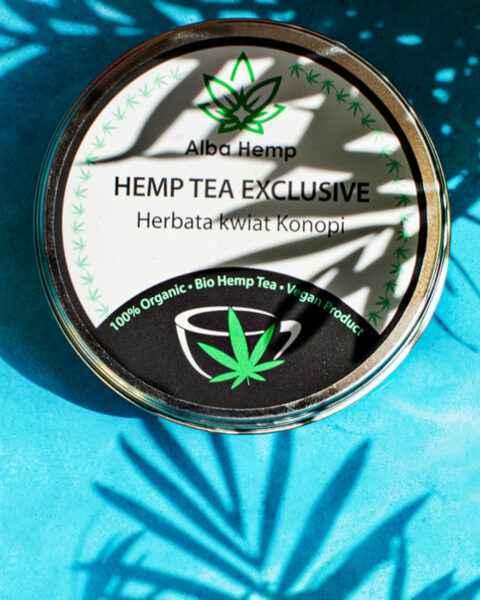 Zestaw herbat konesera herbata konopna 100% 25g + MIX herbaty konopnej i zielonej 25g + herbata Hemp Tea Exclusive 20g