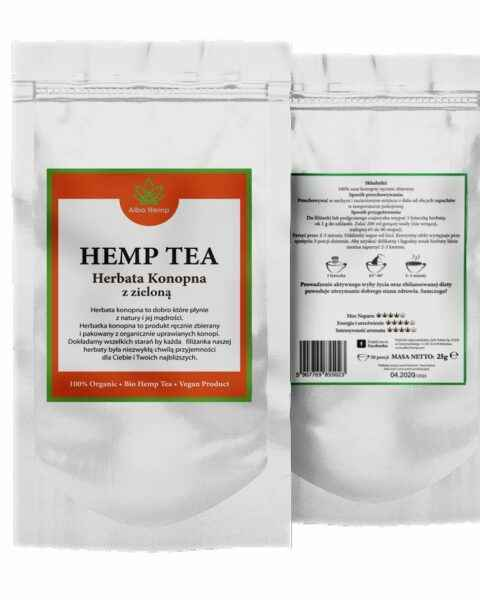 Herbata konopna z zieloną 25g – Hemp green tea 100%
