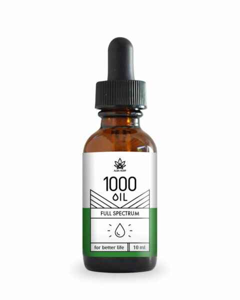 Olejek konopny 10% smak naturalny CBD 1000mg 10ml