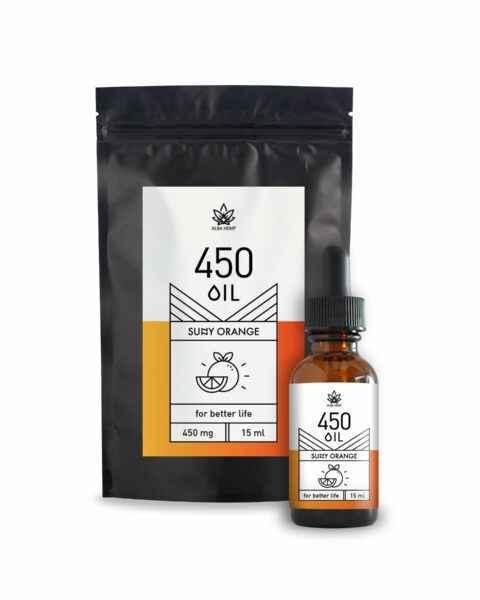 Olejek konopny CBD o smaku pomarańczowym 450mg 3% 15ml