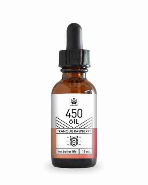 Olej konopny CBD smak malinowy 450mg 3% 15ml