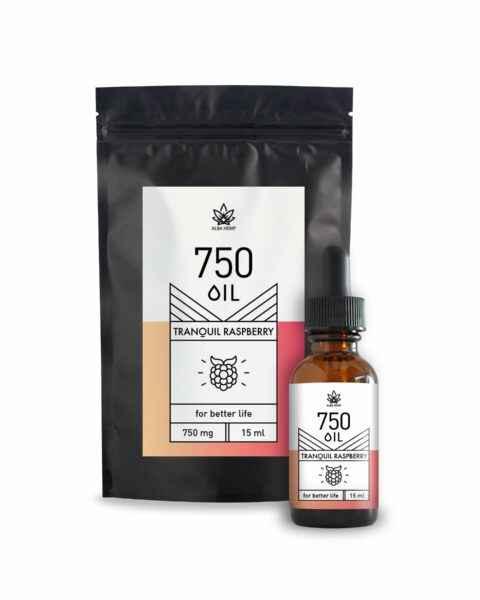 Olejek konopny CBD malinowy 750mg 5% 15ml