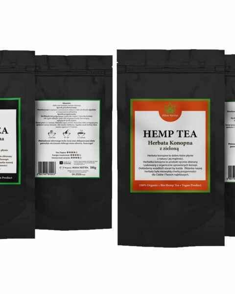 Zestaw herbata konopna 100% 100g + mix herbaty konopnej z zielona 100g