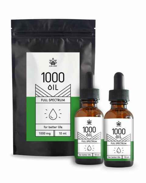 Zestaw 2x 10ml olejek konopny CBD 10% 1000mg DOUBLE FAMILY HEMP