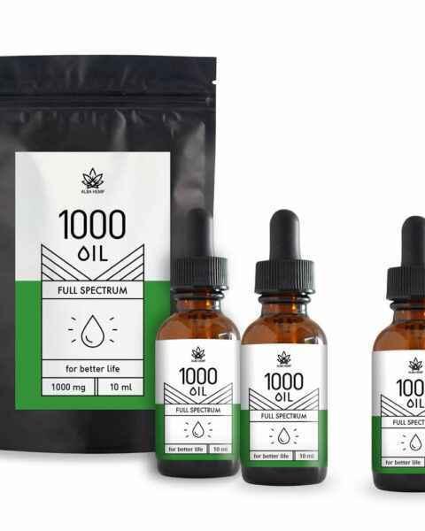 Zestaw 3x 10ml olejki konopne CBD 10% 1000mg TRIPLE FAMILY HEMP
