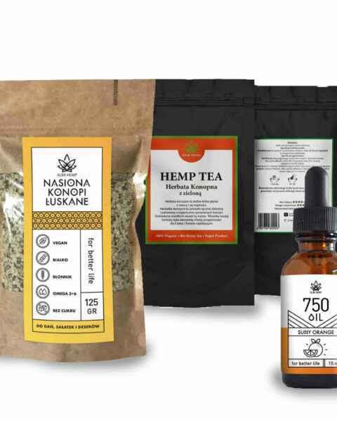 Prezent CBD herbaty olej nasiona konopi Christmas