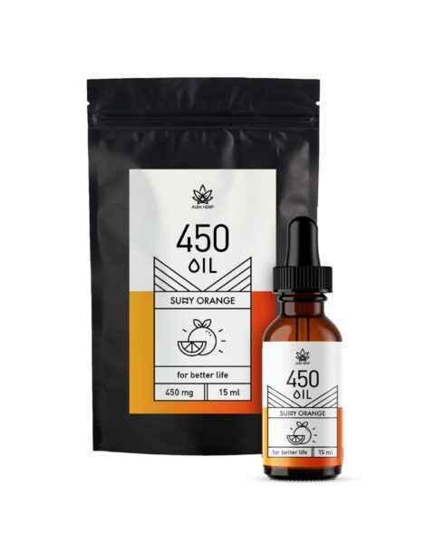 Olejek konopny 3% o smaku pomarańczowym 450mg / 15ml