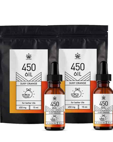 Zestaw 2x olejki konopne 3% osmaku pomarańczowym 15ml 450 mg