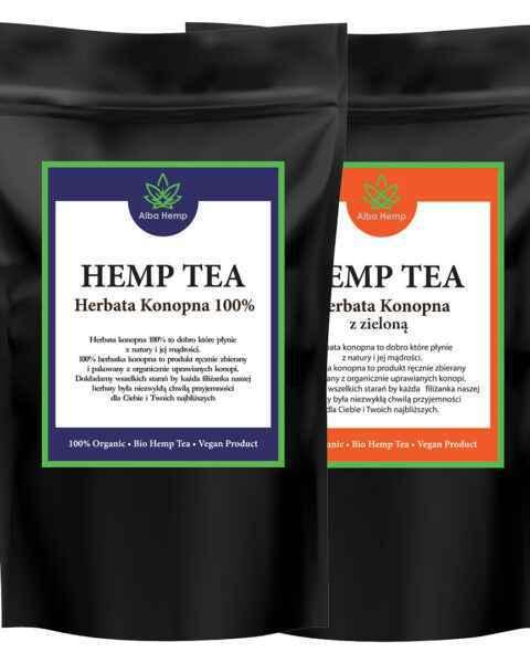 Zestaw herbata konopna 100% 25g + MIX herbaty konopnej i zielonej SMALL TEA MIX